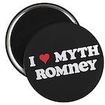 """I Heart Myth Romney 2.25"""" Magnet (100 pack)"""