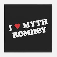 I Heart Myth Romney Tile Coaster