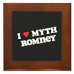 I Heart Myth Romney Framed Tile