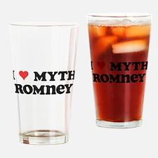 I Heart Myth Romney Drinking Glass