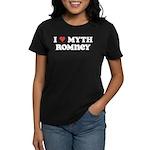 I Heart Myth Romney Women's Dark T-Shirt