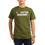 I Heart Myth Romney Organic Men's T-Shirt (dark)