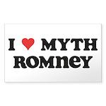 I Heart Myth Romney Sticker (Rectangle 50 pk)