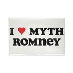 I Heart Myth Romney Rectangle Magnet (100 pack)