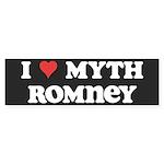 I Heart Myth Romney Sticker (Bumper 10 pk)