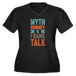 Myth Frank Women's Plus Size V-Neck Dark T-Shirt