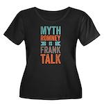 Myth Frank Women's Plus Size Scoop Neck Dark T-Shi