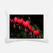 Bleeding Hearts Rectangular Canvas Pillow