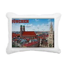 Munich Cityscape Rectangular Canvas Pillow