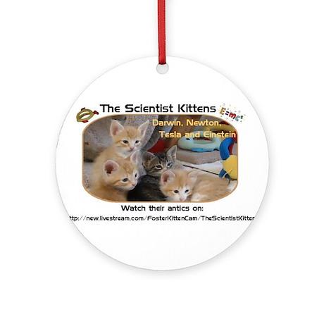 The Scientist Kittens Ornament (Round)
