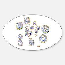 Pop Art Beads Oval Decal