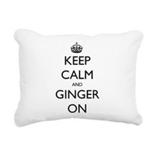 ginger on Rectangular Canvas Pillow