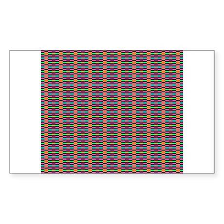micro plaid Sticker (Rectangle)