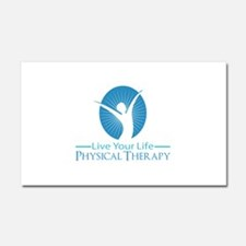 Live Your Life Physical Therapy Car Magnet 20 x 12