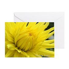 Greeting Card, Chakra Cards, Yellow Dahlia