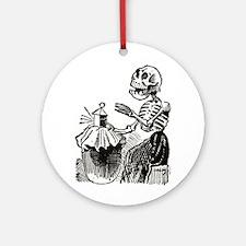 Sewing Calavera Ornament (Round)