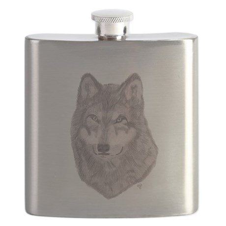 Timber Wolf Flask