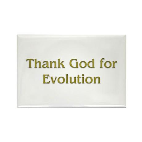 thank god for evolution Rectangle Magnet