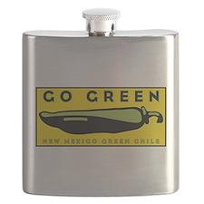 Oval Sticker Go Green Flask