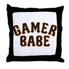 For all you GAMER BABES out there. Throw Pillow