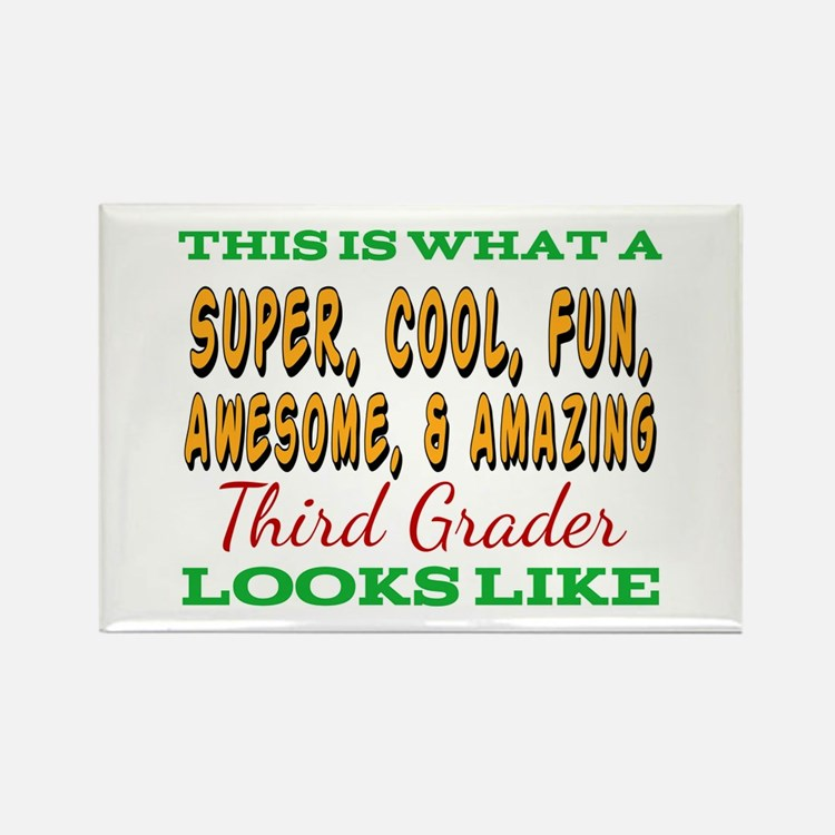 This Is What An Awesome Third Grader Looks Magnets