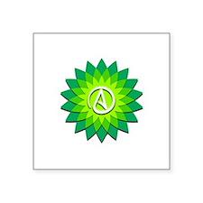 """Atheist Flower Square Sticker 3"""" x 3"""""""