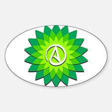 Atheist Flower Sticker (Oval)
