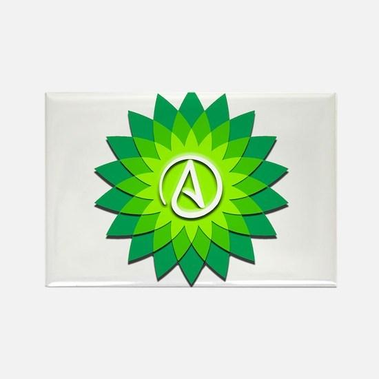Atheist Flower Rectangle Magnet
