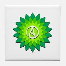 Atheist Flower Tile Coaster