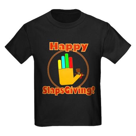 Happy Slaps Giving Kids Dark T-Shirt