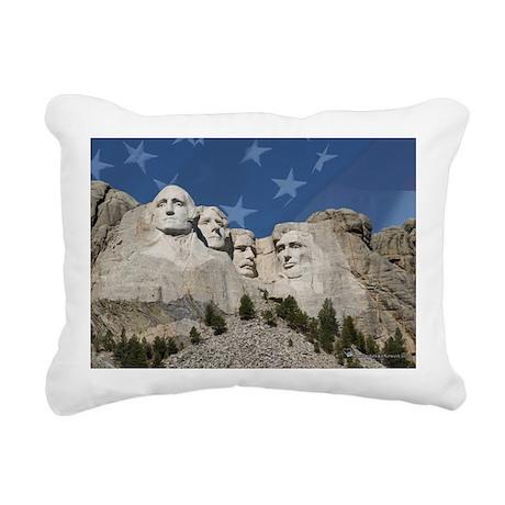 Patriotic Mt. Rushmore Rectangular Canvas Pillow