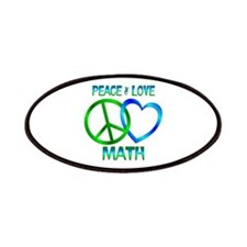 Peace Love Math Patches