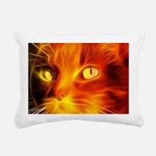 Fiery Cat Rectangular Canvas Pillow
