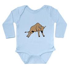 Bull Long Sleeve Infant Bodysuit