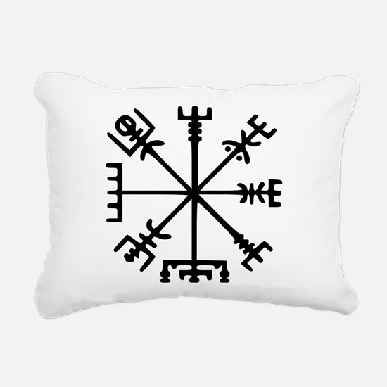 Viking Compass : Vegvisir Rectangular Canvas Pillo