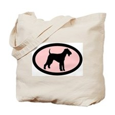 airedale terrier dog pink Tote Bag