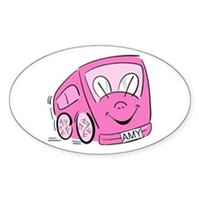 AMY'S HAPPY BUS Oval Decal