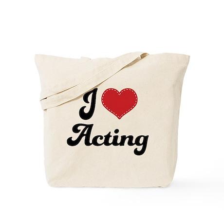 I Love Acting Tote Bag