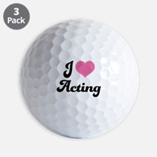 I Love Acting Golf Ball