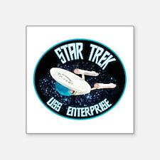 "Star Trek Original Enterprise Square Sticker 3"" x"