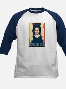 FLOTUS Michelle Obama Pop Art Kids Baseball Jersey