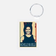 FLOTUS Michelle Obama Pop Art Aluminum Photo Keych
