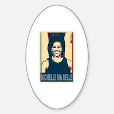 FLOTUS Michelle Obama Pop Art Sticker (Oval)