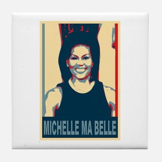 FLOTUS Michelle Obama Pop Art Tile Coaster