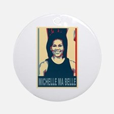 FLOTUS Michelle Obama Pop Art Ornament (Round)