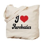 I Love Aerobatics Tote Bag