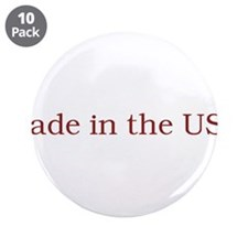 "Made in the USA 3.5"" Button (10 pack)"