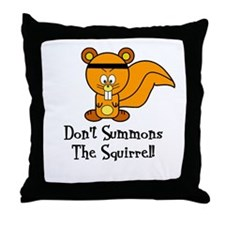 Funny Fighting Squirrrel Throw Pillow