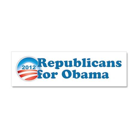 Republicans for Obama Car Magnet 10 x 3
