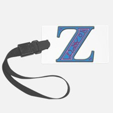 Z Blue Glass Luggage Tag